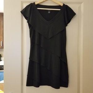 White House Black Market Black Layered Mini Dress